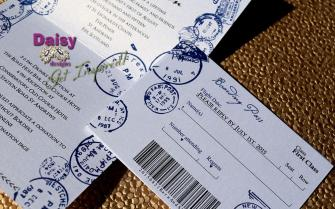 Passport blue rsvp boarding pass
