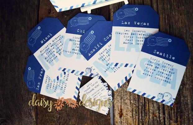 passport table seating cards