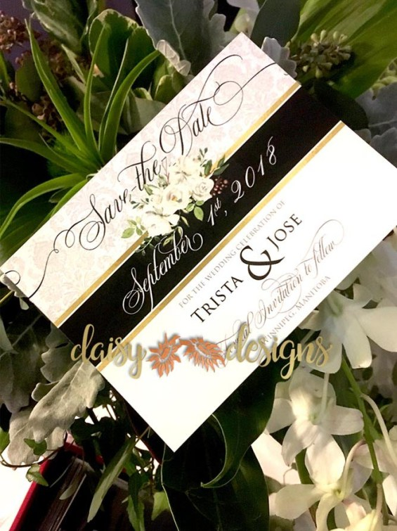 Regal Roses Save-The-Date cards