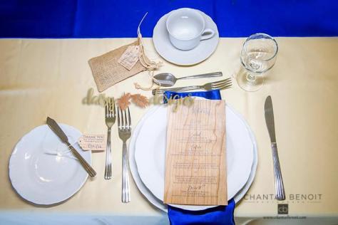 Wood and Roses menu and tags