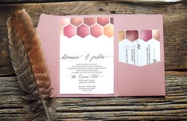 Honeycomb pocket invitation