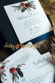 Navy and Merlot invite and rsvp