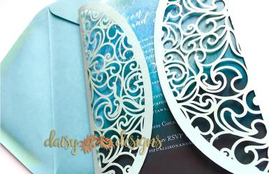 Swirl Gatefold - invite closed