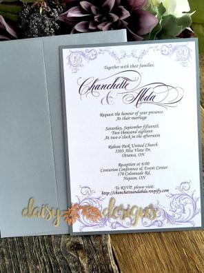 Just a Faerie Tale - invite with upgraded silver envelope