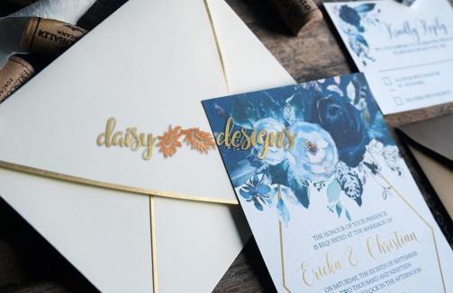 Creamy Peonies invite and envelope