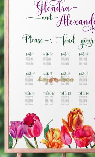 Tulips Seating Chart Details
