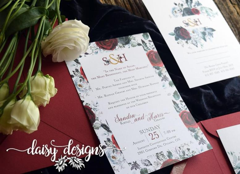 Boheme Scarlet Rose invite suite