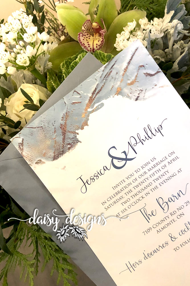 Dusty Blue Modern Paint - invite details