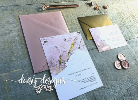Blush and Gold Modern Paint - suite