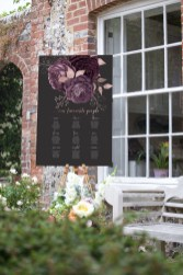 Moody Mauve Rose wedding seating chart