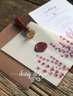Lavender Fields vellum wrap and wax seal