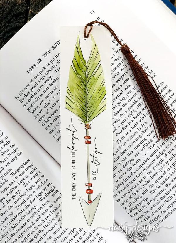 Let Go Bookmark - Sage Green