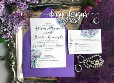 Spring Lilacs invite suite