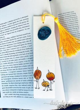 Three Birds bookmark - Orange