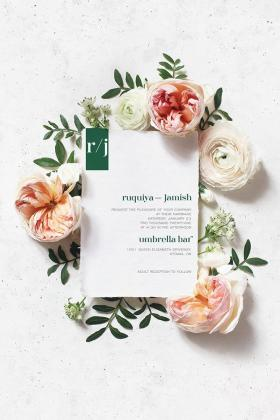 DIY Printable - Modern 1 - invite among flowers