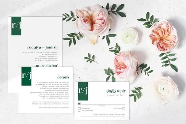 DIY Printable - Modern 1 - full suite with flowers around