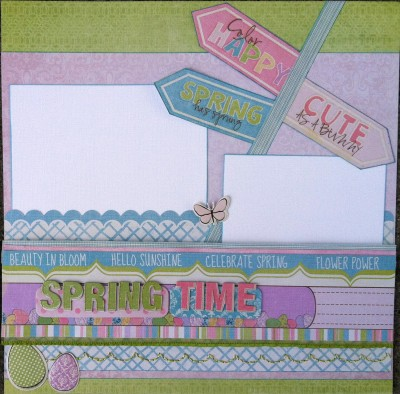 Scrapbook Island Design Team - January Project Page 1