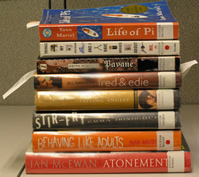 at my latest trip to the king library, i checked out 8 books.  i love the king library...  they have everything!