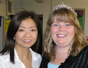 Gwen and Jessica with the tiara.  I got to wear it this time.