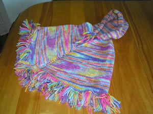 a pretty poncho for baby emily