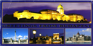 it's a postcard from budapest!