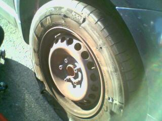gwen's flat tire