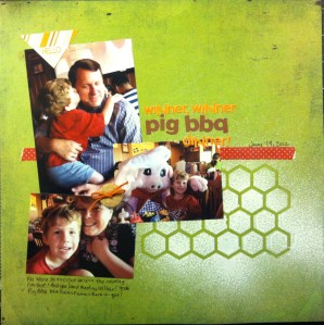 Winner, Winner Pig BBQ dinner!