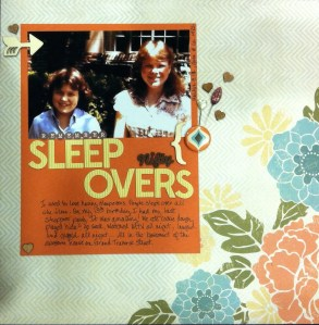 Scrapbook LO: Remeber Sleep Overs