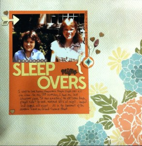 Scrapbook Layout of Gwen and Marilyn around 1982