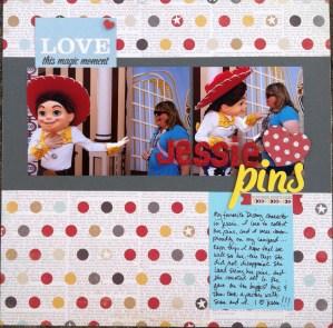 Scrapbook LO: Jessie Pins