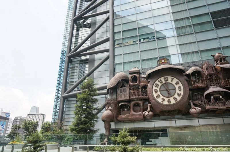 ntv-shiodome, 汐留景點, 日本電視台, 宮崎駿大時鐘, 柯南專賣店, 東京免費景點, 東京景點