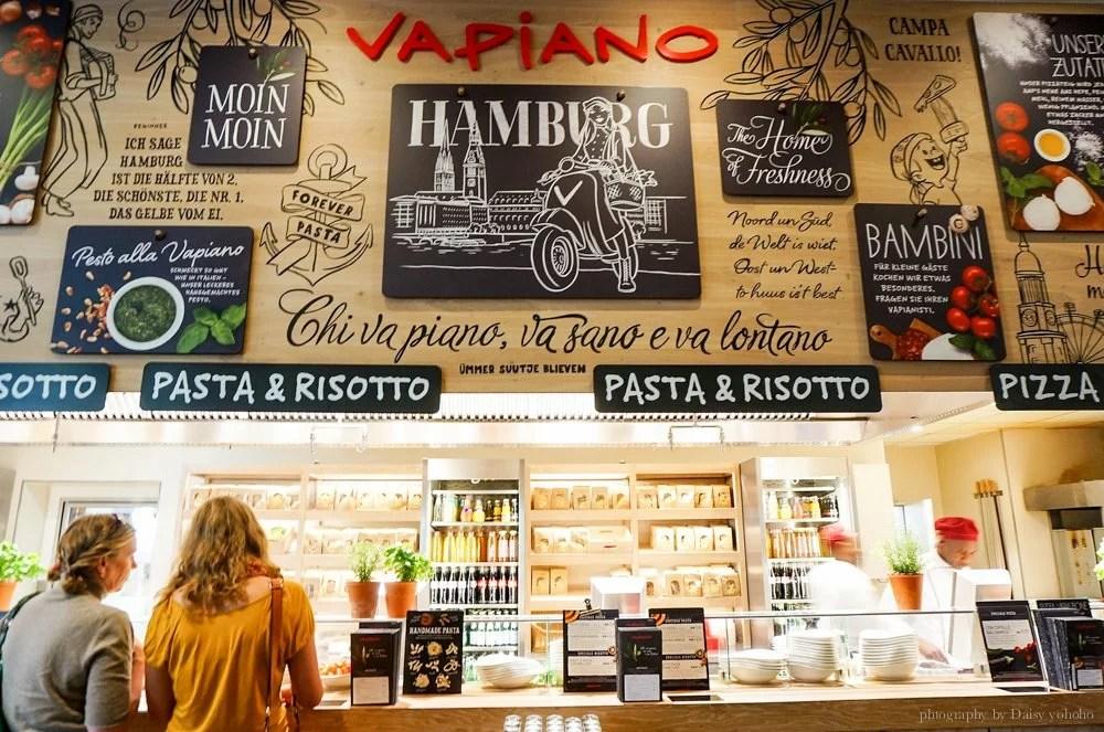vapiano,hamburg,德國,漢堡,義大利麵,義大利麵連鎖店,德國美食,漢堡美食,自助式,歐洲,歐洲旅遊,德國自助