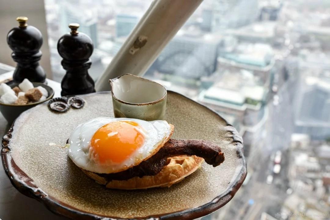 倫敦美食, 倫敦觀景台, 英國自由行, 鴨肉鬆餅, Duck&Waffle