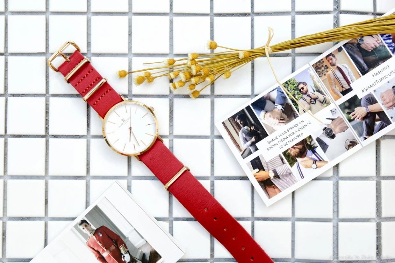 紅色錶帶氣質手錶