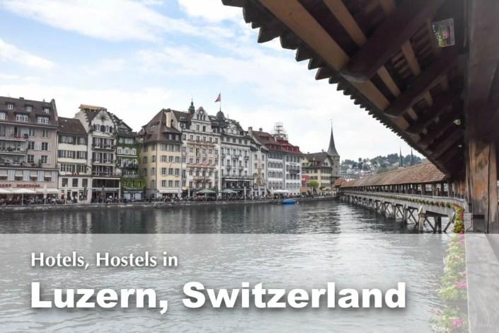 琉森住宿推薦, 琉森住宿, 瑞士飯店, 瑞士青年旅館, Luzern Hostel, Lucerne Hotel, 琉森市區住宿, 琉森地理位置