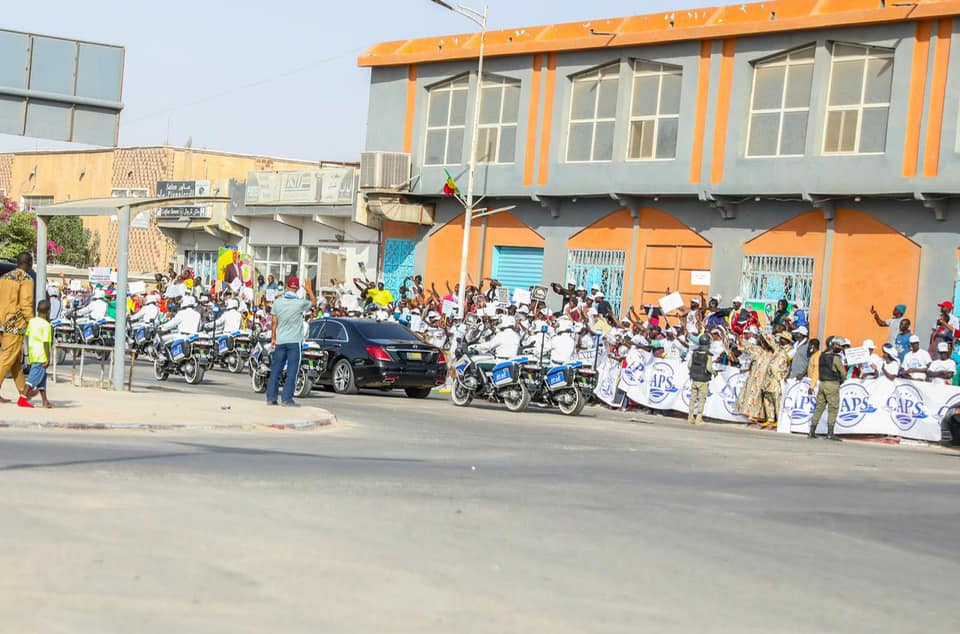 Macky et Marie%CC%80me Faye Sall a%CC%80 Nouakchott1 - Senenews - Actualité au Sénégal, Politique, Économie, Sport