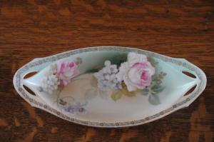 vintage, flowered candy dish,