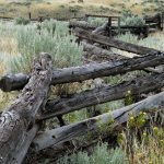 snake fence, Gang Ranch Road