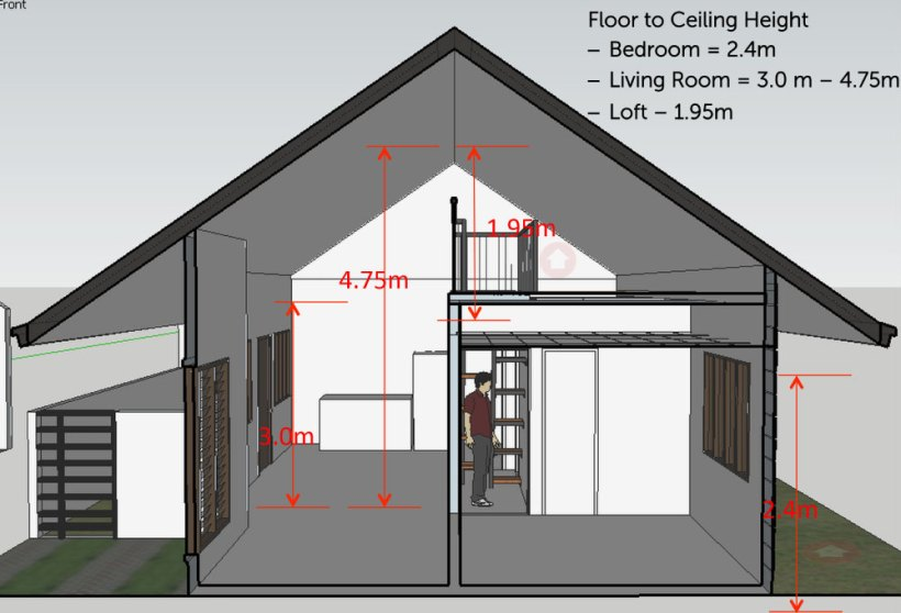 Standard residential ceiling height philippines www for Roof height of 2 story house