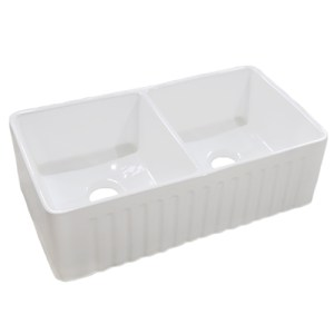 DSFCA-5050-b white double bowl vanity sink