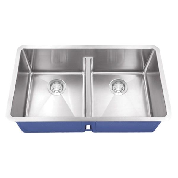 Dakota Signature Series 40/60 Micro Radius Low Divide Undermount 16 Gauge Stainless Steel Sink