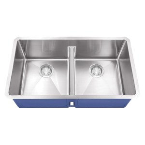 Dakota Signature Series 40/60 Micro Radius Low Divide Undermount 16 Gauge Stainless Steel Sink