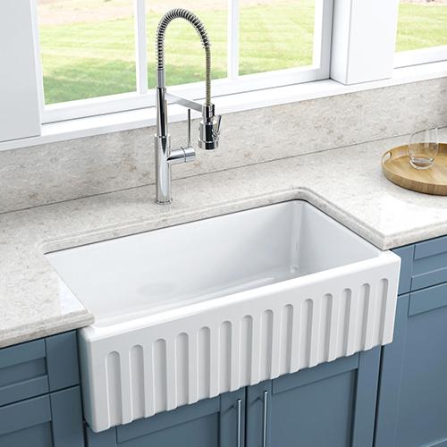 scalloped-apron kitchen sink