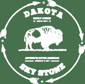 White Dakota Sky Stone logo transparent background