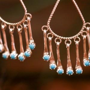 Sleeping Beauty Dangle Earrings