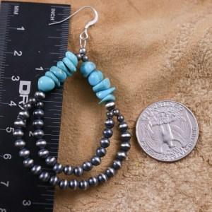 Sleeping Beauty Navajo Pearl Earrings