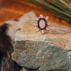 Rose Quartz Ring Sz. 8