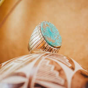 Number 8 Turquoise Ring Sz. 10