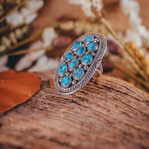 Sleeping Beauty Ring Adjustable