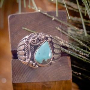 Turquoise Mountain Ring Sz. 9